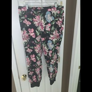 Express, Mid Rise Floral Jogger Pant